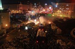 Центр Киева массово покидают жители города